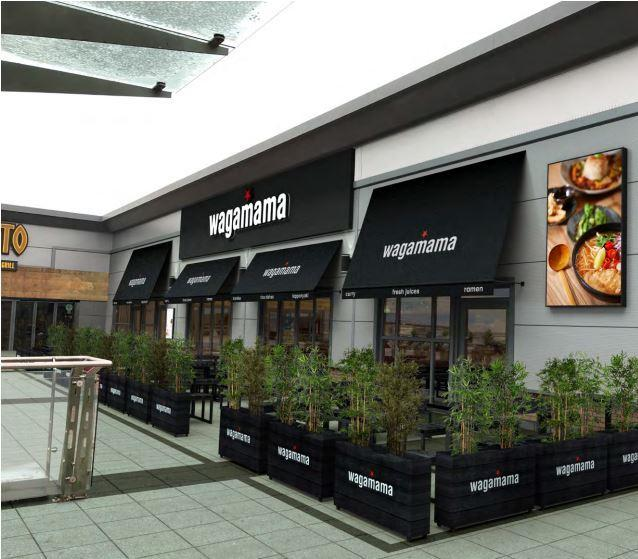 PROPOSALS: A visual of how the Wagamama at Middlebrook Retail Park is set to look (Credit: Technical Signs)