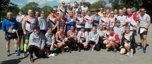 OUT IN FORCE: Burnden's massive turnout at the Blacksticks Blue 10k