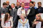 CERTIFICATES: Young people from Bolton were joined by the Mayor of Bolton, Cllr Elaine Sherrington at the presentation