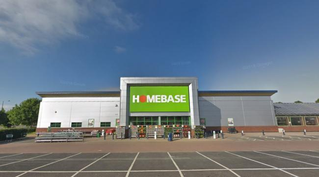 CHANGES: Homebase in Middlebrook Retail Park is set to split its floorspace in half, creating a new retail unit