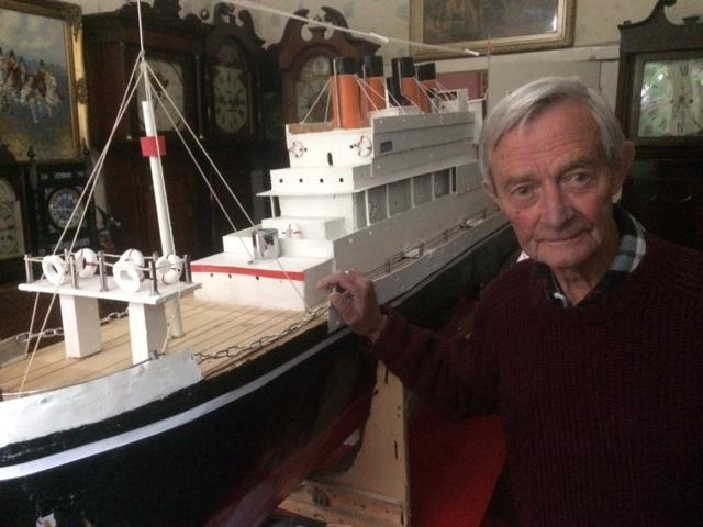 Image result for Model maker builds 8ft Titanic in his dining room