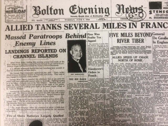 How the Bolton Evening News reported D-Day