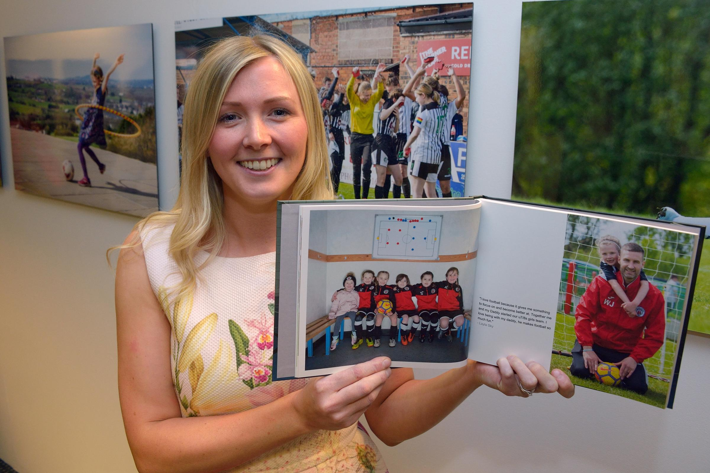 Girl power is the goal for new women in football photography exhibition
