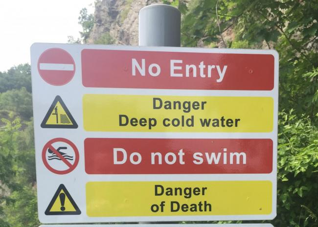 Swimming warnings